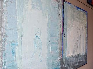 Jacek Łydżba : Ladies in blue No 1 & 2 : Oil on Canvas