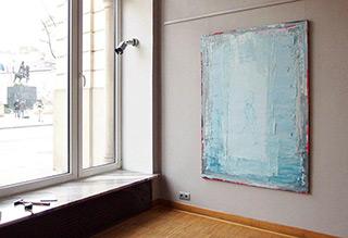 Jacek Łydżba : Lady in blue No 1 : Oil on Canvas