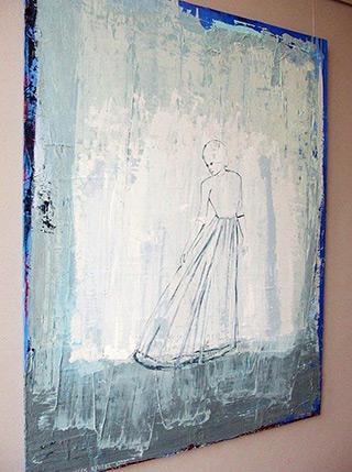 Jacek Łydżba : Lady in blue No 2 : Oil on Canvas