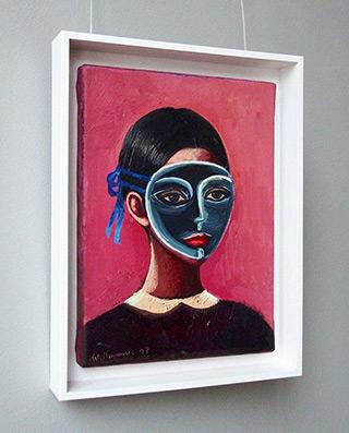 Katarzyna Karpowicz : Girl in the mask : Oil on Canvas