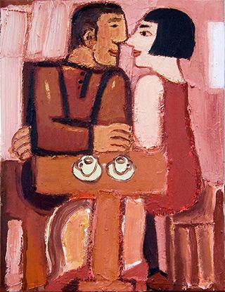 Krzysztof Kokoryn : Cafe : Oil on Canvas
