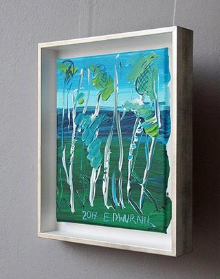 Edward Dwurnik : Birches No 1 : Oil on Canvas
