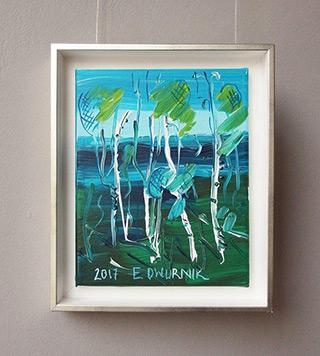Edward Dwurnik : Birches No 2 : Oil on Canvas