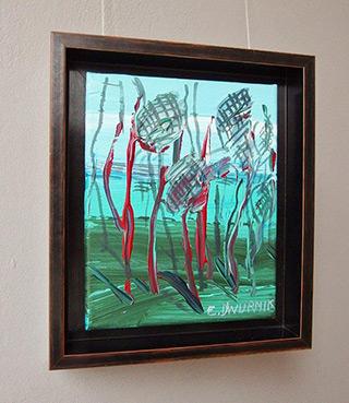 Edward Dwurnik : Pine trees No 1 : Oil on Canvas
