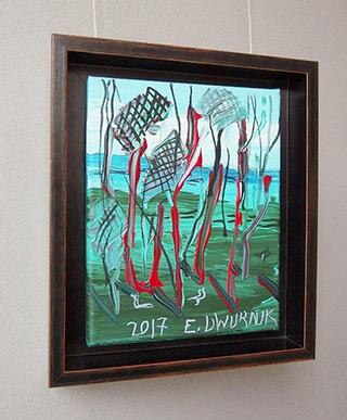 Edward Dwurnik : Pine trees No 2 : Oil on Canvas