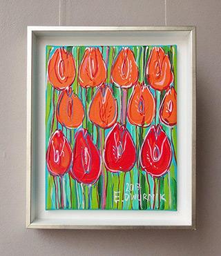Edward Dwurnik : Positive tulips : Oil on Canvas