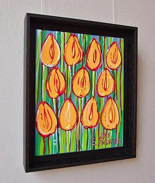 Edward Dwurnik : Yellow tulips : Oil on Canvas