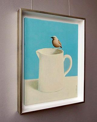 Katarzyna Castellini : Bird on a jug : Oil on Canvas