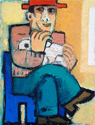 Krzysztof Kokoryn : Man with the rabbit : Oil on Canvas