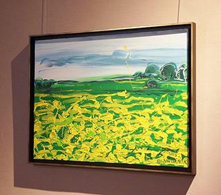 Edward Dwurnik - Landscape with marigolds