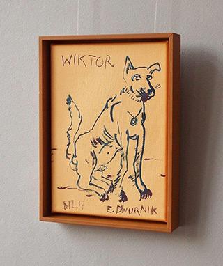 Edward Dwurnik : Wiktor : Acrylic on canvas