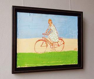 Jacek Łydżba : Biker in a polka dots : Oil on Canvas