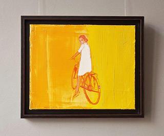 Jacek Łydżba : Biker in the sun : Oil on Canvas
