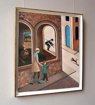 Katarzyna Karpowicz : Hello doggy : Oil on Canvas