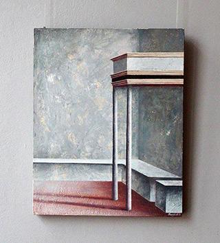 Łukasz Huculak : Canopy : Tempera on wood panel