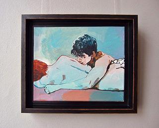 Agnieszka Sandomierz : Boys couple : Tempera on canvas