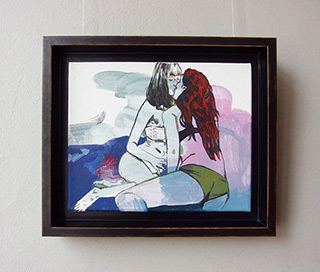 Agnieszka Sandomierz : Girls couple : Tempera on canvas