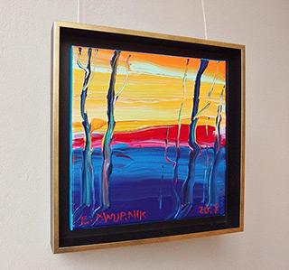Edward Dwurnik : Expressionist landscape : Oil on Canvas