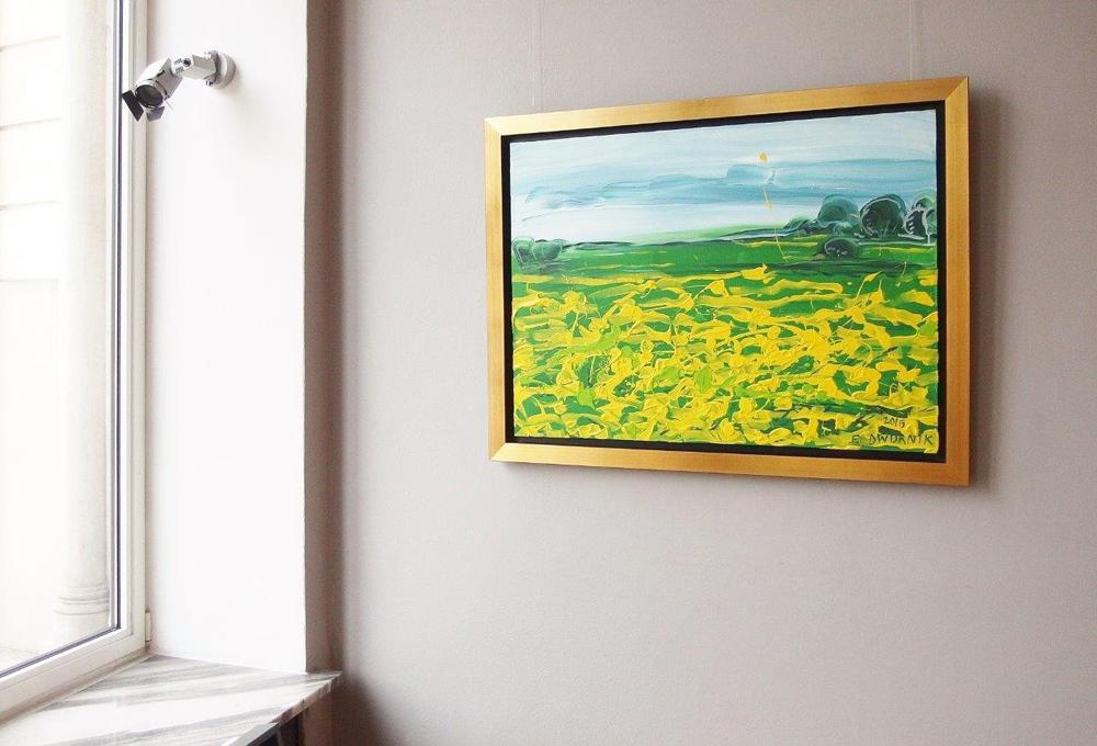 Edward Dwurnik : Landscape with marigolds