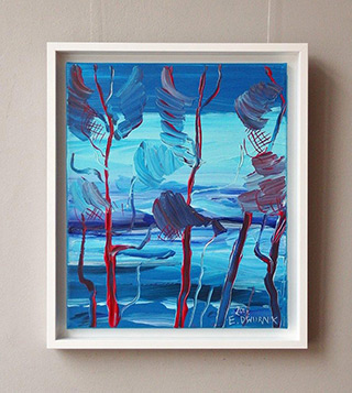 Edward Dwurnik : Pines by the sea No 2 : Oil on Canvas