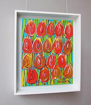Edward Dwurnik : Tulips orange : Oil on Canvas