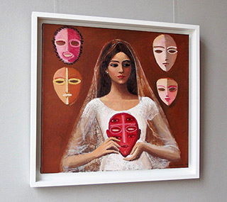 Katarzyna Karpowicz : Bride and masks : Oil on Canvas