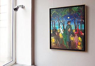 Katarzyna Karpowicz : Costume party : Oil on Canvas