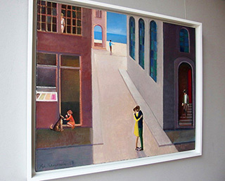 Katarzyna Karpowicz : Seaside street : Oil on Canvas