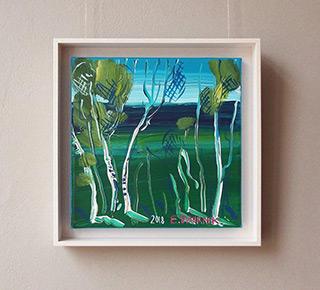 Edward Dwurnik : Birches : Oil on Canvas