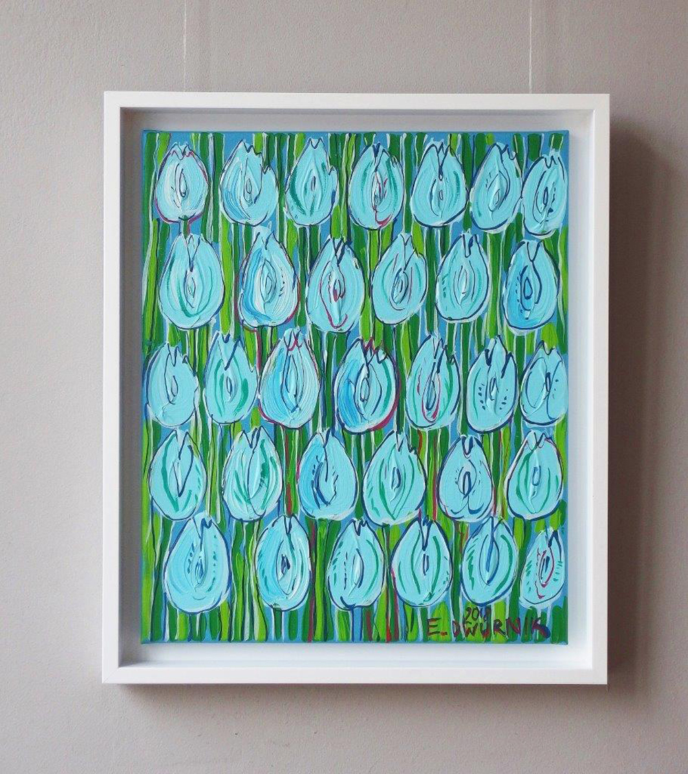 Edward Dwurnik : Light blue tulips