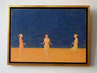 Mikołaj Kasprzyk : Skipping rope : Oil on Canvas
