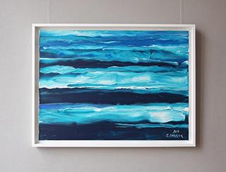 Edward Dwurnik : Waves : Oil on Canvas