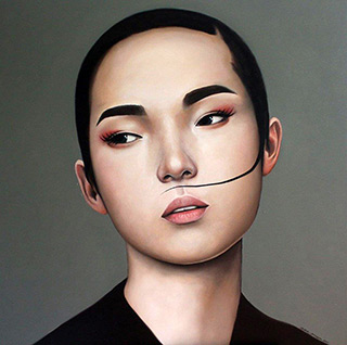 Katarzyna Kubiak : Lock of hair : Oil on Canvas