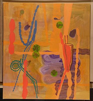 Ciro Beltrán : Orange : Acrylic on Canvas