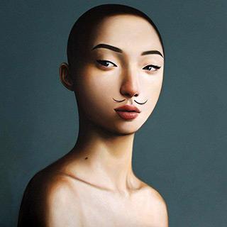 Katarzyna Kubiak : Mustache : Oil on Canvas