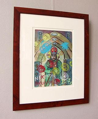Edward Dwurnik : Bishop : Watercolour on paper