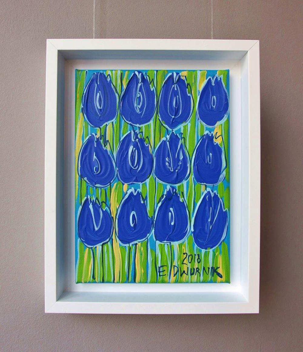 Edward Dwurnik : Blue tulips