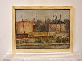 Edward Dwurnik : Miêdzylesie 1966 : Oil on Canvas