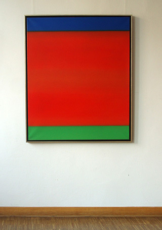 Anna Podlewska : Blue Red Green : Oil on Canvas