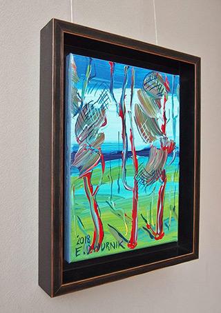 Edward Dwurnik : Pine trees No 3 : Oil on Canvas