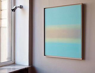 Anna Podlewska : Balance in pale blue : Oil on Canvas