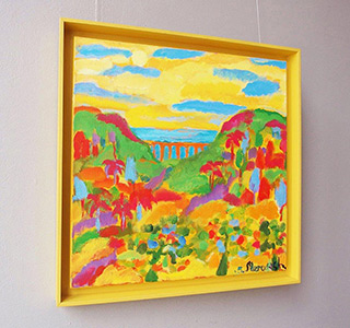 Beata Murawska : Bridge over the gorge : Oil on Canvas