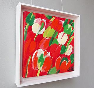 Beata Murawska : Candy tulips : Oil on Canvas