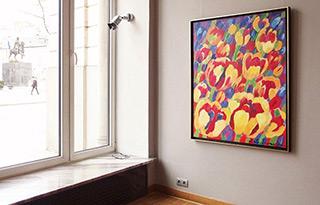 Beata Murawska : Groving tulips : Oil on Canvas