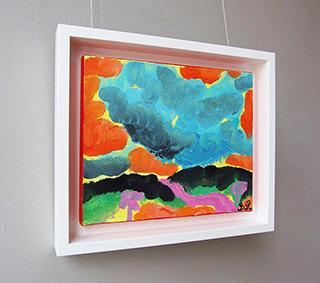 Beata Murawska : Storm over the hills : Oil on Canvas
