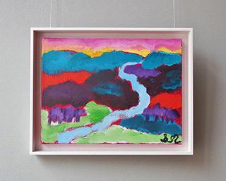 Beata Murawska : The stream between the hills : Oil on Canvas