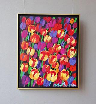 Beata Murawska : Tulips with serious undertone : Oil on Canvas