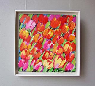 Beata Murawska : Very happy tulips : Oil on Canvas