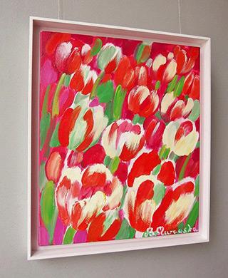 Beata Murawska : Virgin tulips : Oil on Canvas