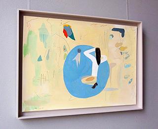 Jacek Cyganek : Fun in the lake : Tempera on canvas